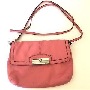 Coach Kristen pink leather Crossbody purse